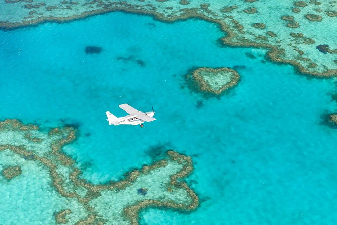 Scenic Flight - Great Barrier Reef, Heart Reef, Whitehaven Beach & Hill Inlet!