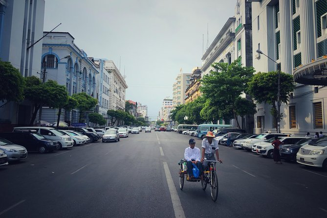 Yangon Evening Food Tour and trishaw ride