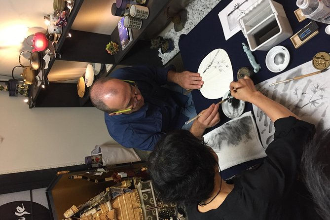 Japanese Ink Painting (Suibokuga) Experience in Tokyo photo 4