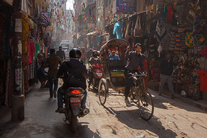 Rikshaw Tour Along Small Streets of Kathmandu