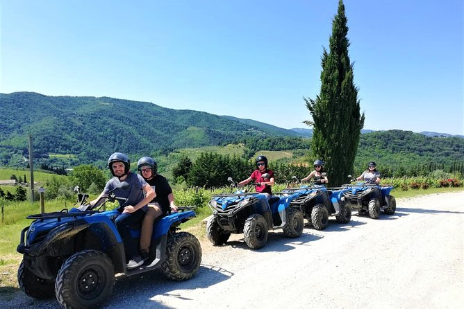 Quad Tour ATV Adventure in Chianti. Lunch and Wine Tasting. Open Top Van