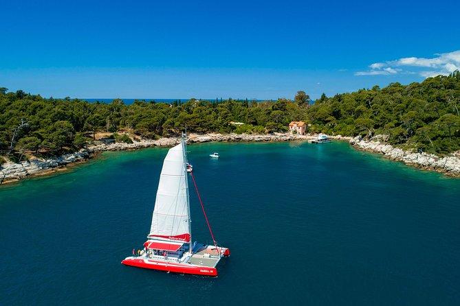 Catamaran Sailing to the Mystic Legend of Lokrum Island