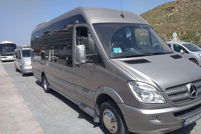 Arrival Private Transfer from Santorini Airport JTR to Santorini by Minibus