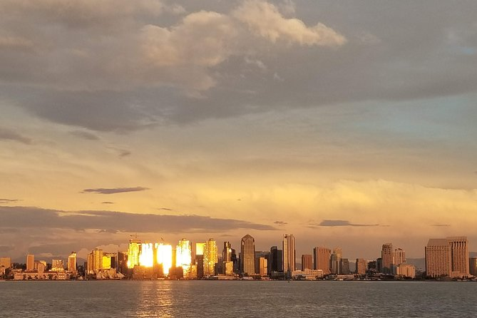 """A Sunset Cruise lets you experience a """"sunset"""" side of San Diego Bay, and the incredible reflections of glass from the high rises downtown."""