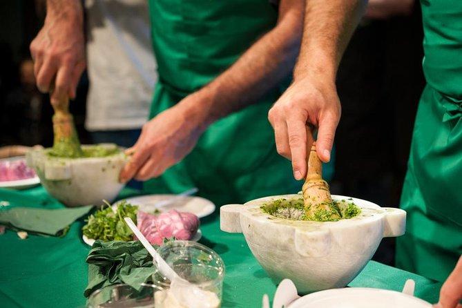 Authentic Pesto cooking class at the Cinque Terre