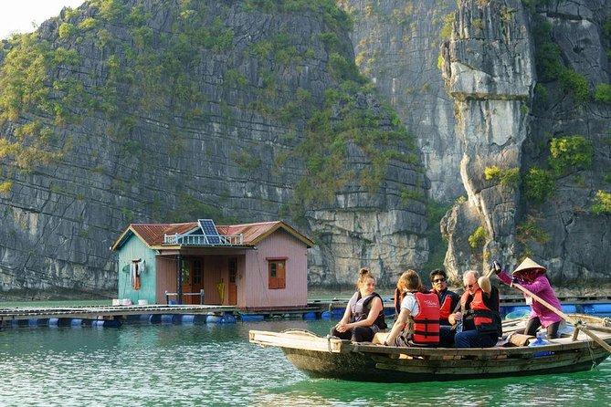Boutique Bai Tu Long Bay Cruises 2 Days Tour Cave,Kayak,Swimming,Squid fishing