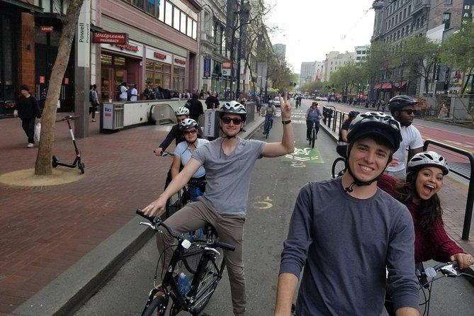 Biking down the streets of SF