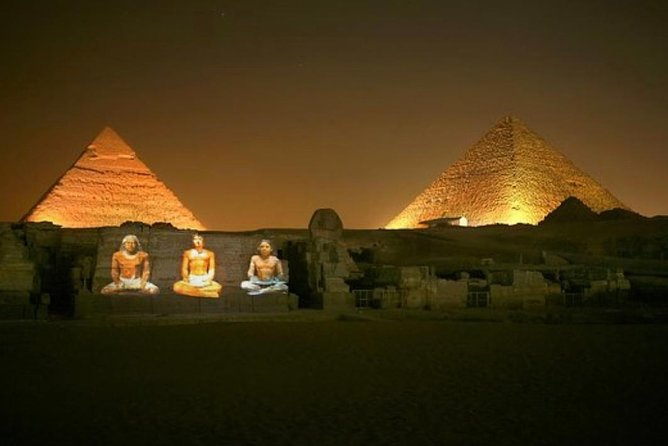 Pyramids great Sound and Light Show with private Transport