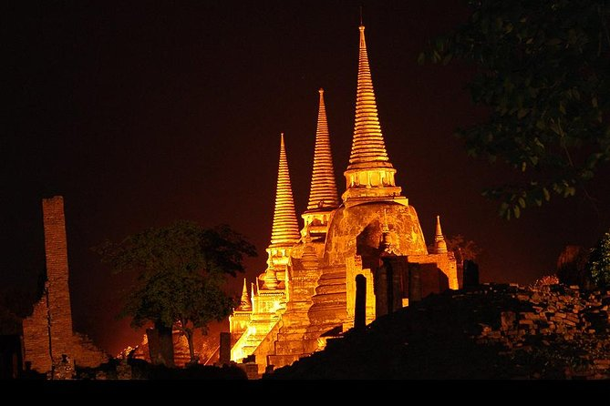 Night Join Tour Sunset Selfie Boat at Ayutthaya A World Heritage Evening Trip