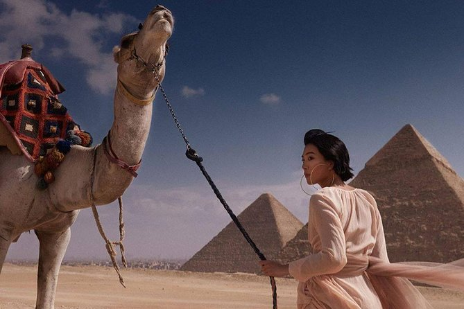 cheap half day tour to Giza pyramids and sphinx with Camel ride