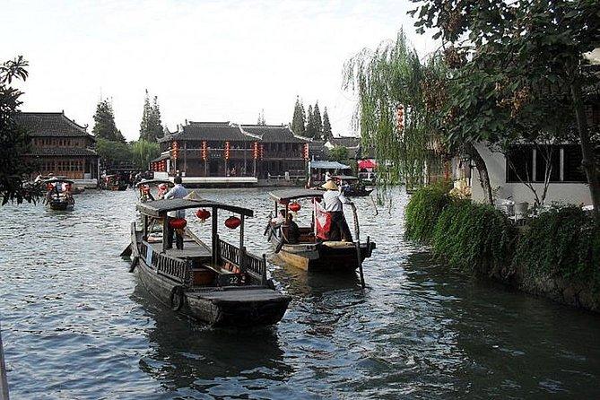 Excursão flexível de meio dia à cidade aquática de Zhujiajiao com passeio de barco de Xangai