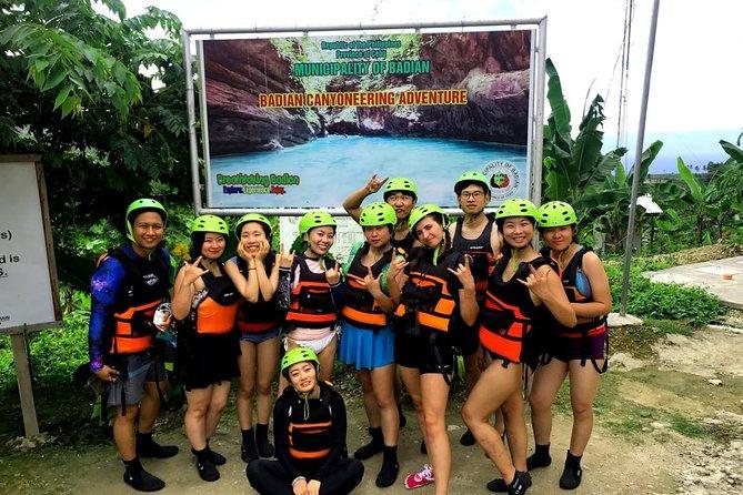Kawasan Falls Canyoneering, Cebu Island, Philippines