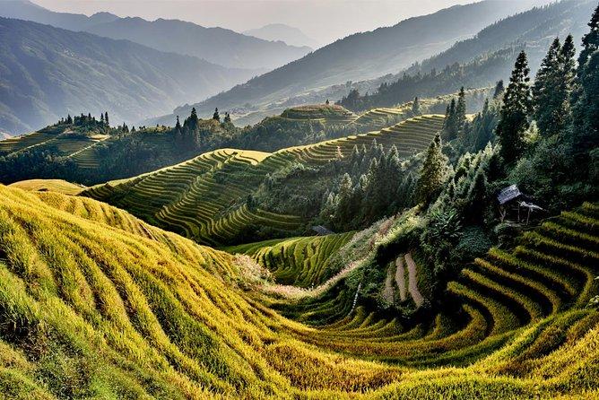Excursão de ônibus em Guilin aos terraços de arroz Longji na vila de Jinkeng