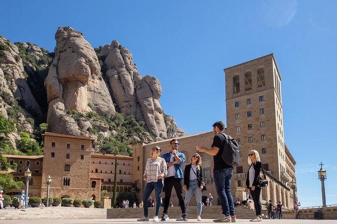 Montserrat Monastery Visit & Natural Park Hiking with Railway from Barcelona
