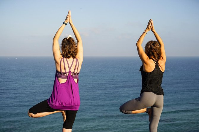 Yoga on Whitstable beach for couples