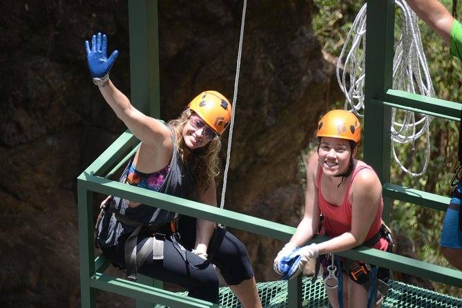 From San Jose Combo tour Canyoning with Canopy, Rappel, Trails, 4x4 ride