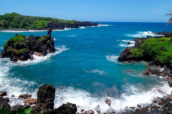 Road to Hana Luxury Mercedes with Waterfall Swim, Black Sand Beach and Lunch