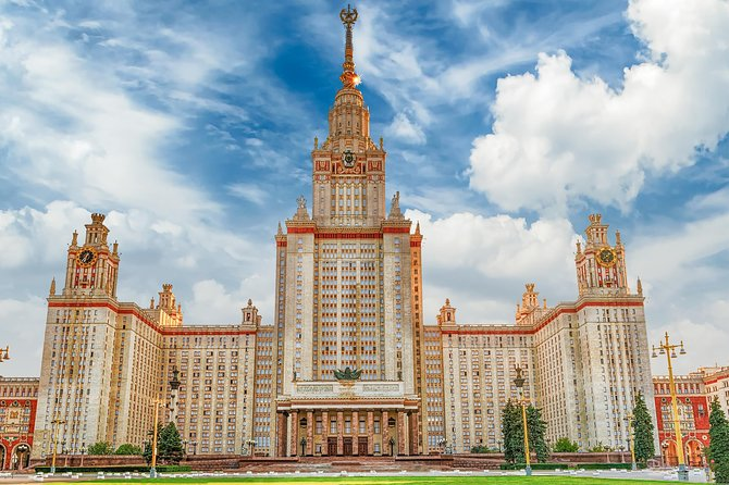 Stalin's skyscrapers private tour by transport (pick up and drop off included)
