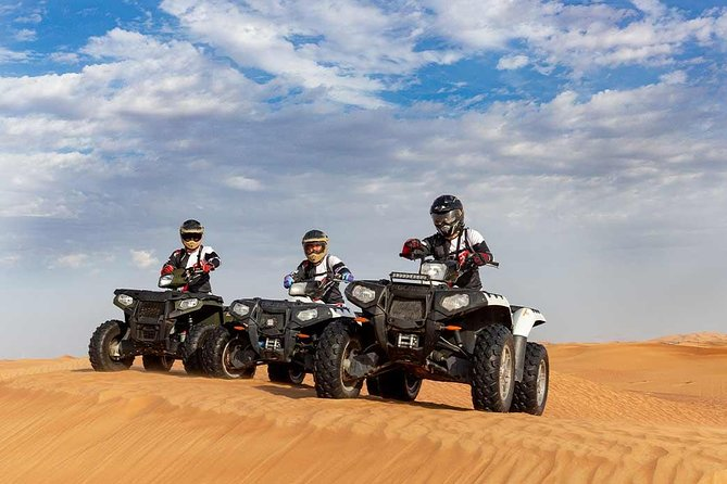 Red Dunes Safari By Quad Bike, Sandboarding, Camel Ride & BBQ Dinner