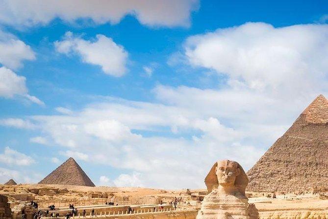 Pyramids, Memphis, and Sakkara Day Tour with Entrance Tickets & Camel Ride