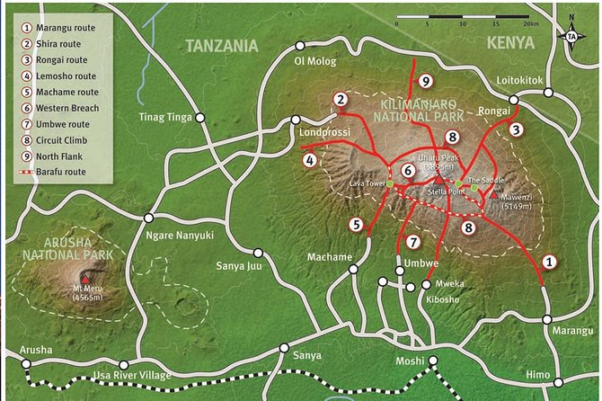6 Days Kilimanjaro Trekking via Marangu Route