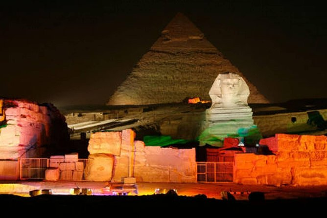 Evening Sound & Light Show at Giza Pyramids