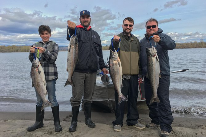Private Guided Salmon Fishing Trip - up to 4 guests - Day Trip