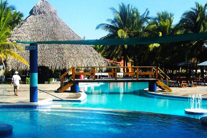 Day at exclusive club Costa del Sol Beach from San Salvador or Airport