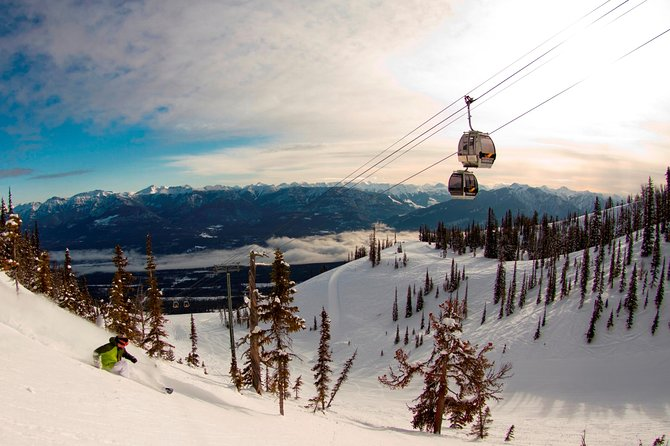 Full Day Ski Adventure to Kicking Horse Mountain Resort