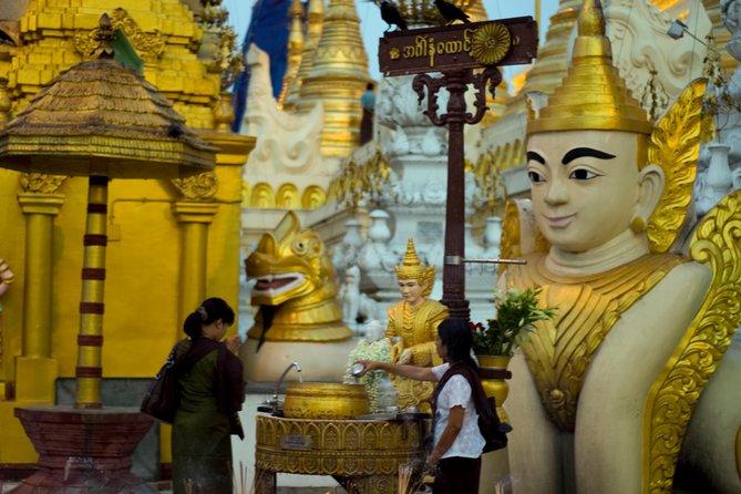 Pagoda, Monks, Market & Mohinga