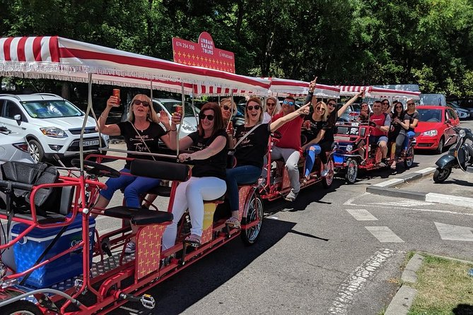 Beer Bike Tour (1 hour with UNLIMITED BEER- up to 4 people)