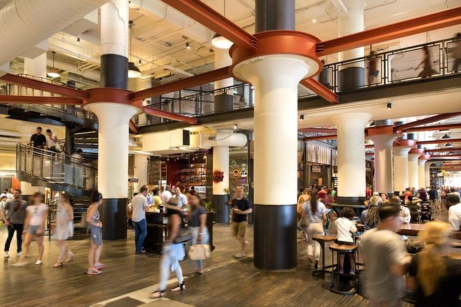 Inside the main food hall of Ponce City Market.