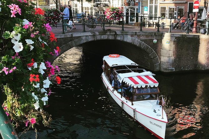 Private canal cruise on small historic boat