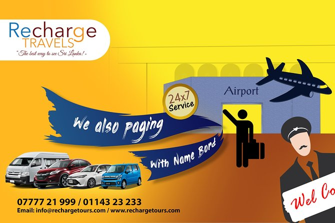 Colombo International Airport to Anywhere in Galle-Transport only