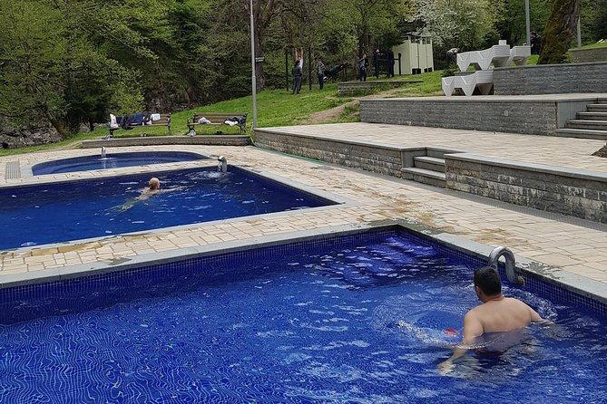 Borjomi park Hiking and swimming in natural sulfur water pool
