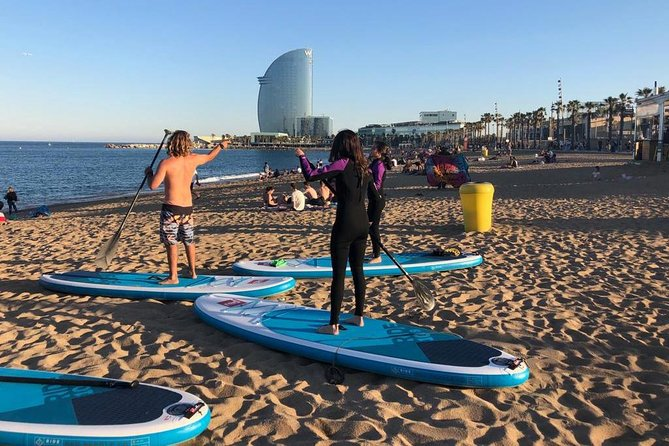 Afternoon Stand Up Paddle Barceloneta (skyline)