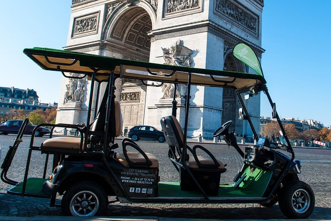 Discover Paris in Electric Golfettes, 5 places, ecological!
