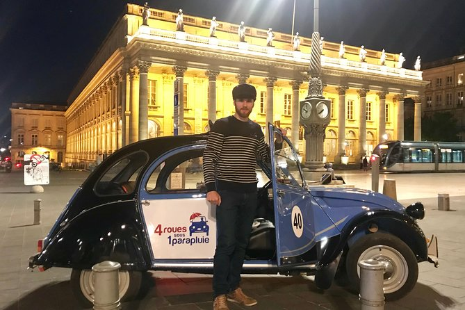 Private Tour of Bordeaux By Night in a Citroën 2CV - 45min