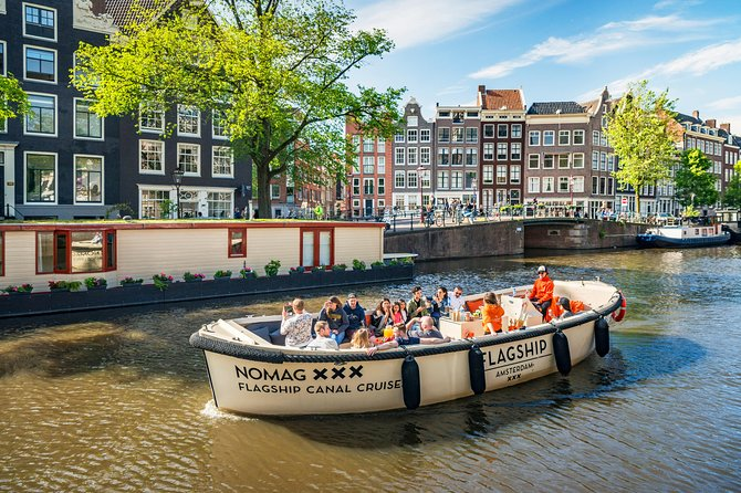 Amsterdam Canal Cruise in Luxury River Boat - Small Group - from AnneFrank House