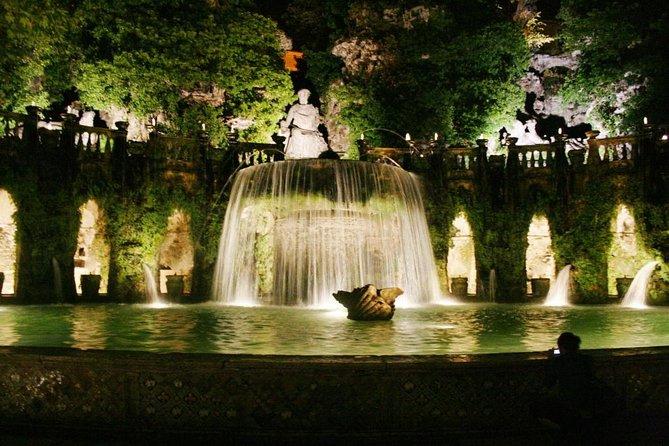 Villa D'Este in TIVOLI by night Private Tour from Rome