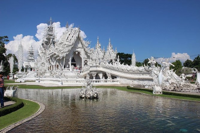 ChiangRai oneday! White temple + Black house + Blue temple with Longneck people