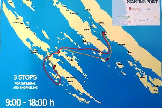 National Park Kornati from Biograd na Moru, daily boat tour - small group