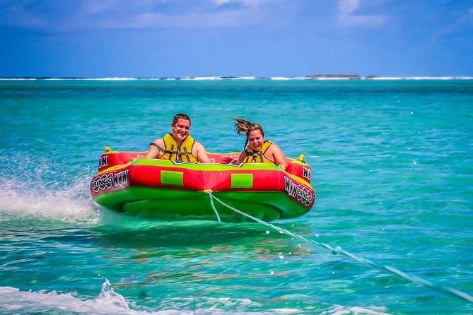 The Incredible Ile aux Cerf Island: Speed Boat,GRSE waterfall,Lunch &Tube riding