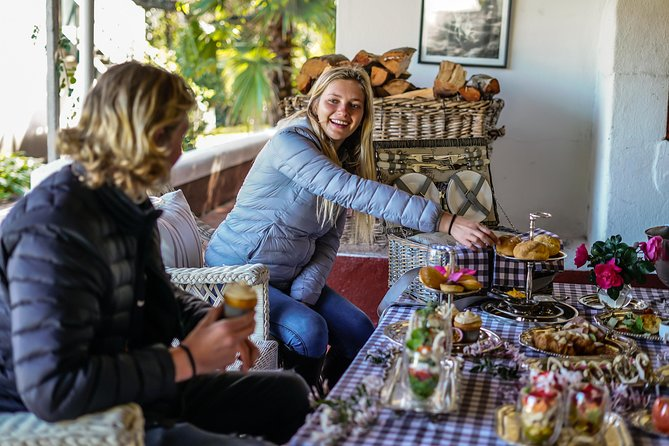 Enjoy a deluxe picnic on the verandah in front of the fire on cooler days.