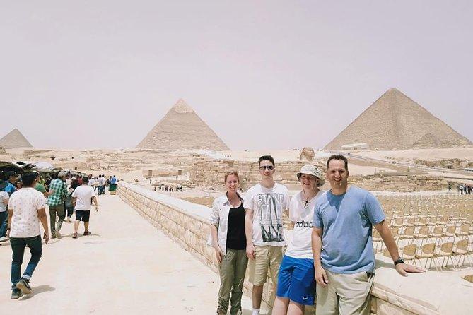 guided trip to Giza pyramids, sakkara step pyramids and Memphis old city