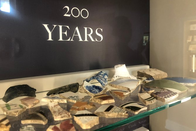 The artifact room displays items spanning 200 years and a dozen owners.