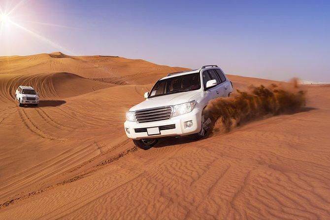 Dubai Morning Red Dunes with Camel Safari & Sandsurf