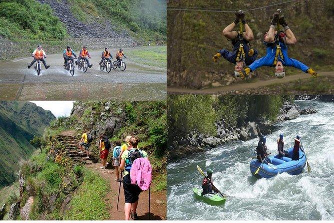 Inca Jungle Trek To Machu Picchu 4 Days / 3 Nights Biking+Rafting+Zipline