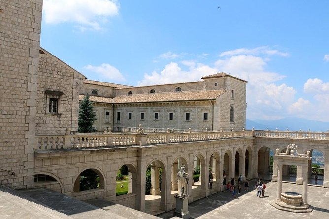 From Rome to Naples Area with 2 stops Abby Monte Cassino Anagni Catherdal