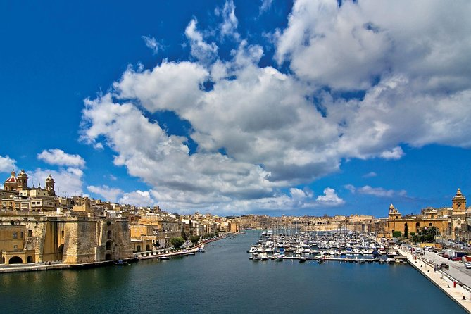Three Cities guided tour including harbour boat tour of the harbour creeks, La Valeta, MALTA